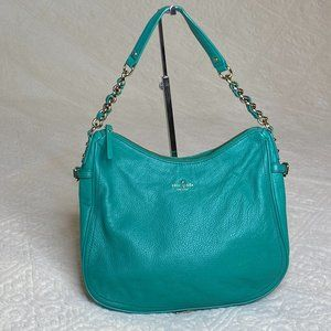 Kate Spade Teal Leather Hobo Shoulder Bag